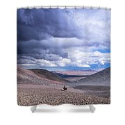 Racing With The Storm Shower Curtain