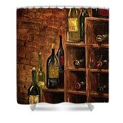 Racked Wine Shower Curtain