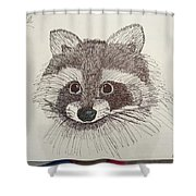 Racoon Shower Curtain