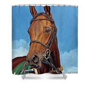 Radamez - Arabian Race Horse Shower Curtain