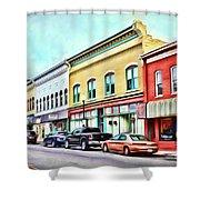 Radford Virginia - Along Main Street Shower Curtain