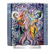 Radha Krishna - Cosmic Dance Shower Curtain