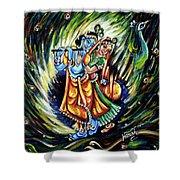 Radhe Krishna Shower Curtain