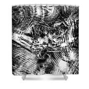 Radiance In Monochrome  Shower Curtain