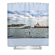 Radiance Of The Seas Passing Opera House Shower Curtain