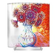 Radiant Array Shower Curtain
