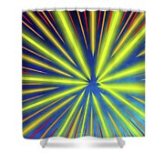 Radiant Flow 3 Shower Curtain