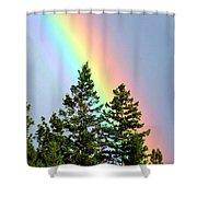 Radiant Rainbow Shower Curtain