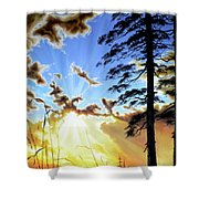 Radiant Reflection Shower Curtain by Hanne Lore Koehler