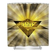 Radiant Star Of David Shower Curtain