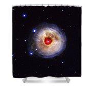 Radiation From A Stellar Burst Shower Curtain