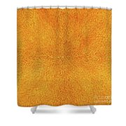 Radiation With Gold  Red And Brown  Shower Curtain
