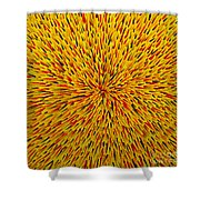 Radiation Yellow  Shower Curtain