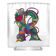 Radical Rooster Shower Curtain