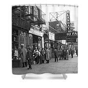 Radio Alley In New York Shower Curtain