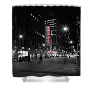 Radio City Colors Shower Curtain