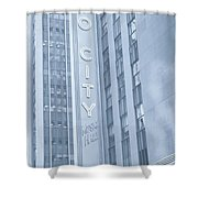 Radio City Cool Toned Shower Curtain
