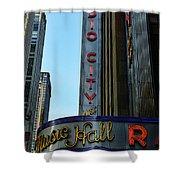 Radio City Music Hall Shower Curtain by Paul Ward