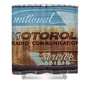 Radio Communications Shower Curtain