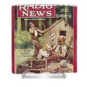Radio News, 1926 Shower Curtain