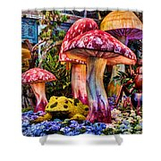 Radioactive Mushrooms Shower Curtain