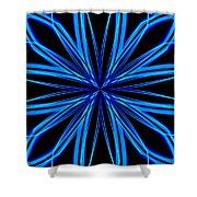Radioactive Snowflake Blue Shower Curtain