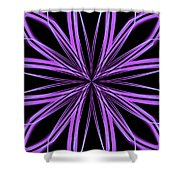 Radioactive Snowflake Purple Shower Curtain