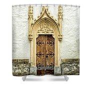 Radovljica Church Door Shower Curtain