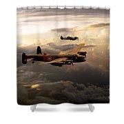 Raf Lancaster And Spitfire Shower Curtain
