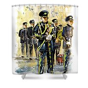 Raf Military Parade In York Shower Curtain