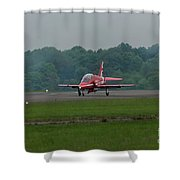 Raf Red Arrow Jet Lands Shower Curtain