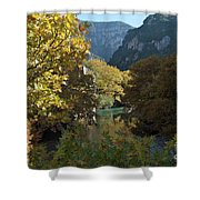 Rafting River Voidomatis Shower Curtain