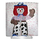 Raggedy Andy Cowboy Shower Curtain