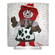 Raggedy Ann Cowgirl Shower Curtain