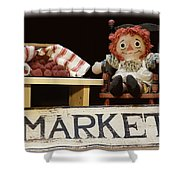 Raggedy Ann Selling Raspberries Shower Curtain