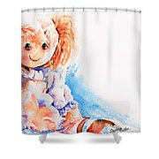 Raggedy Rosie Shower Curtain