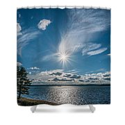 Raging Cotton Shower Curtain