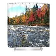 Raging Michigamme River Shower Curtain