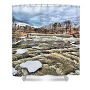 Raging Royal River Shower Curtain