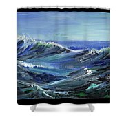 Raging Seas Shower Curtain