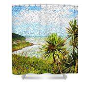 Raglan Coastline Shower Curtain