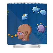 Ragweed Allergy, Illustration Shower Curtain