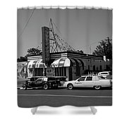 Raifords Disco Memphis A Bw Shower Curtain