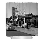Raifords Disco Memphis B Bw Shower Curtain