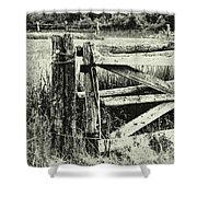 Rail Fence Shower Curtain