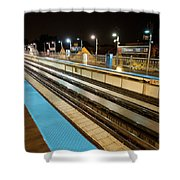 Rail Perspective Shower Curtain