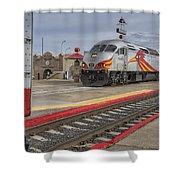 Rail Runner Train Albuquerque Nm Sc02985 Shower Curtain
