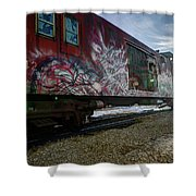 Railcar Graffiti Shower Curtain