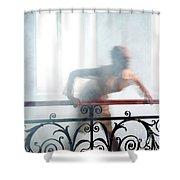 Railing #5055 Shower Curtain