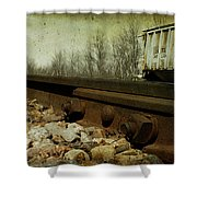 Railroad Bolts Shower Curtain